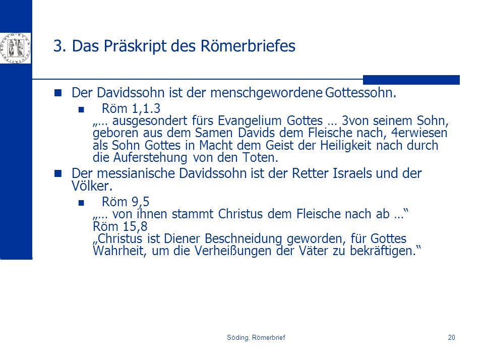 3. Das Präskript des Römerbriefes