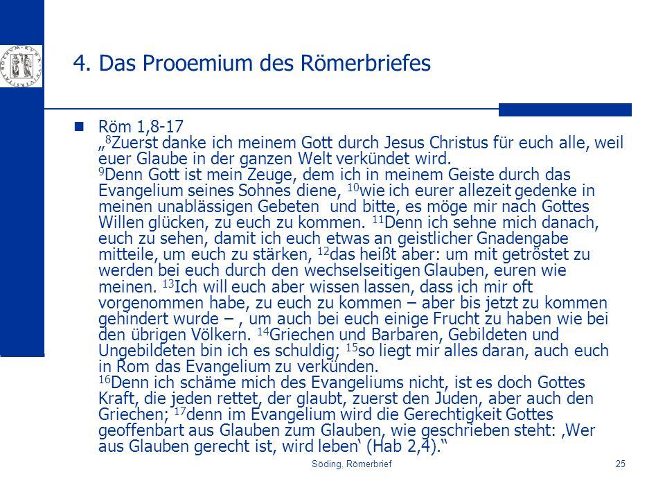 4. Das Prooemium des Römerbriefes