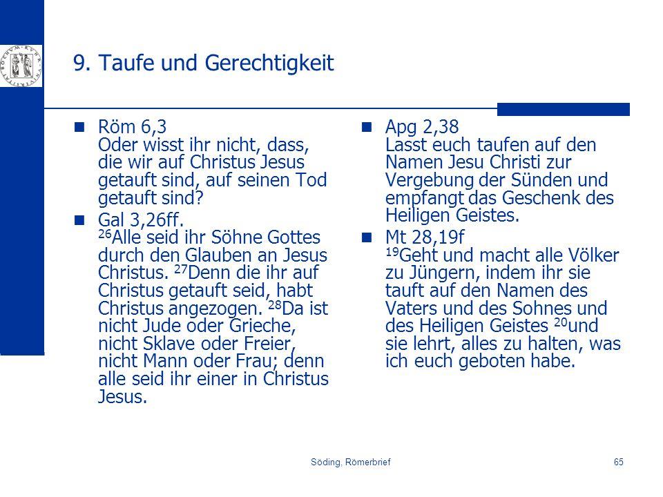 9. Taufe und Gerechtigkeit