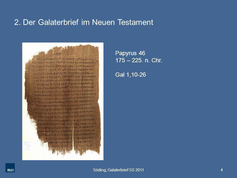 2. Der Galaterbrief im Neuen Testament