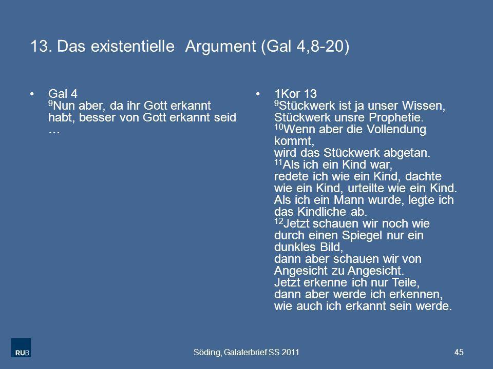 13. Das existentielle Argument (Gal 4,8-20)