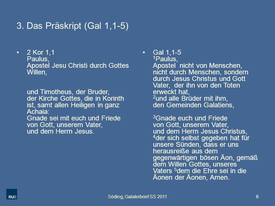 Söding, Galaterbrief SS 2011