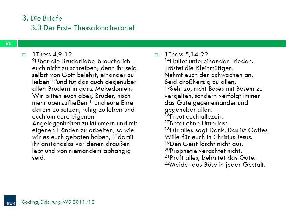 3. Die Briefe 3.3 Der Erste Thessalonicherbrief