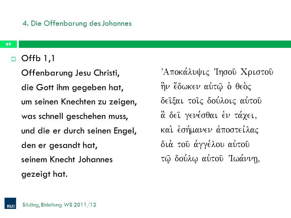 4. Die Offenbarung des Johannes