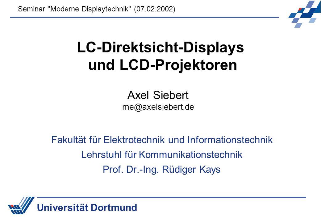 LC-Direktsicht-Displays und LCD-Projektoren