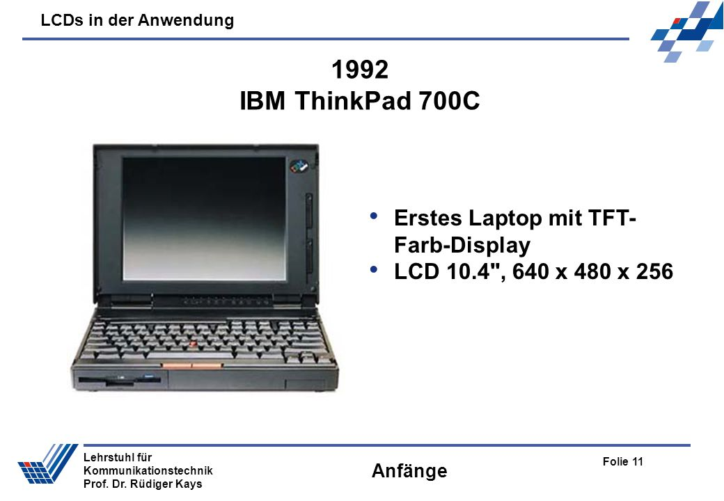 1992 IBM ThinkPad 700C Erstes Laptop mit TFT-Farb-Display