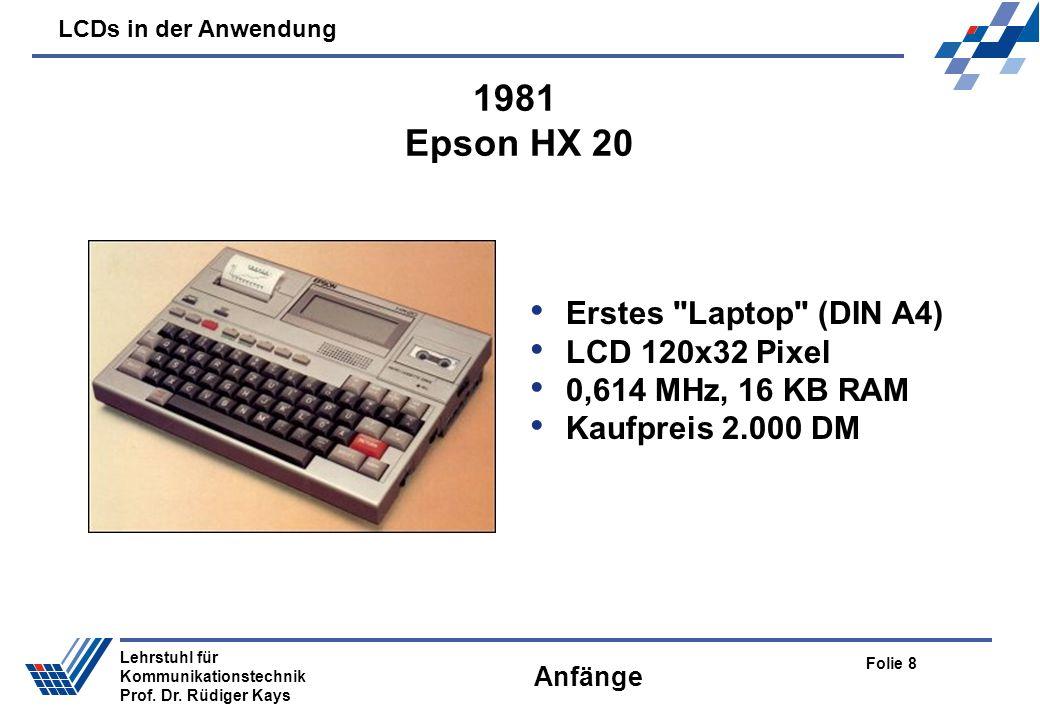 1981 Epson HX 20 Erstes Laptop (DIN A4) LCD 120x32 Pixel