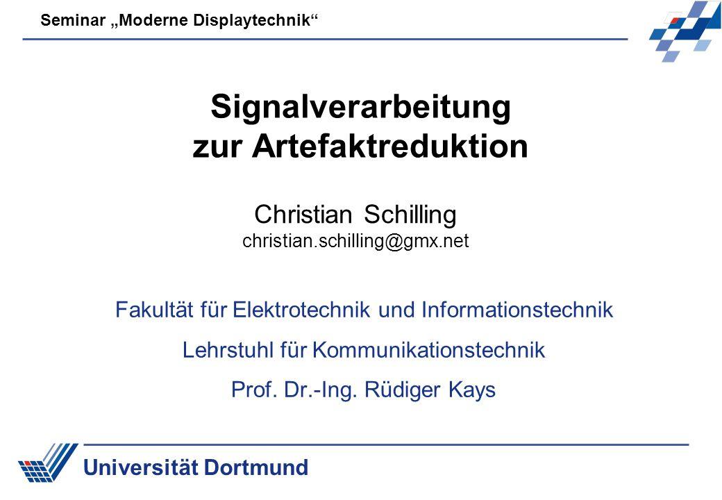 Signalverarbeitung zur Artefaktreduktion