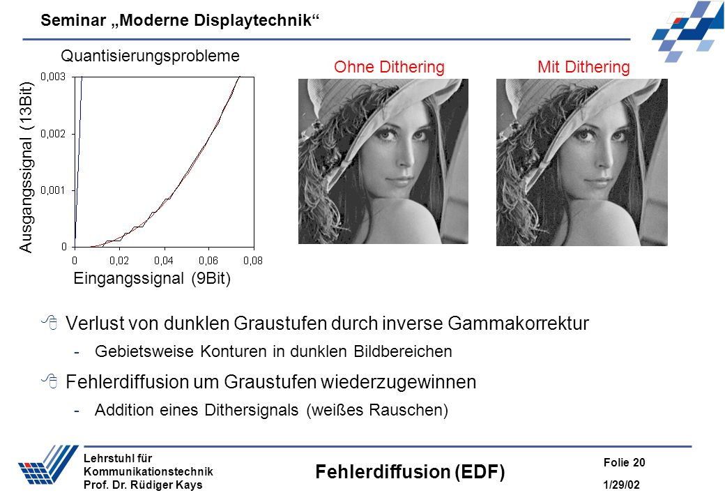 Fehlerdiffusion (EDF)