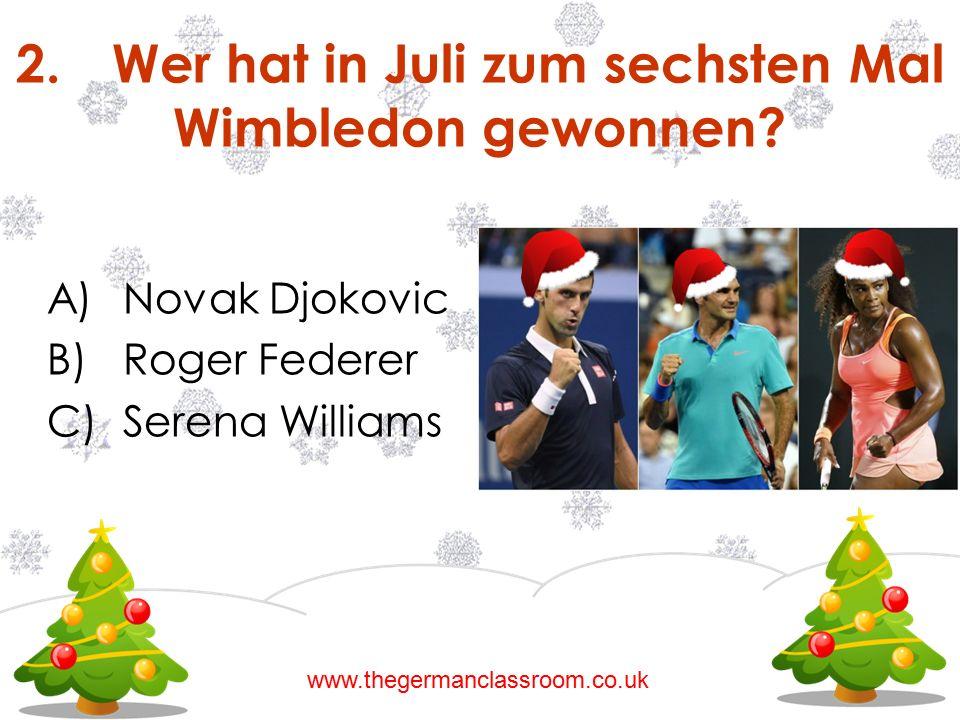 2. Wer hat in Juli zum sechsten Mal Wimbledon gewonnen
