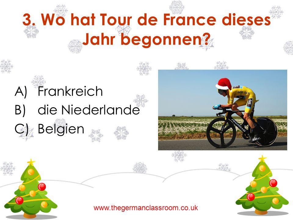 3. Wo hat Tour de France dieses Jahr begonnen