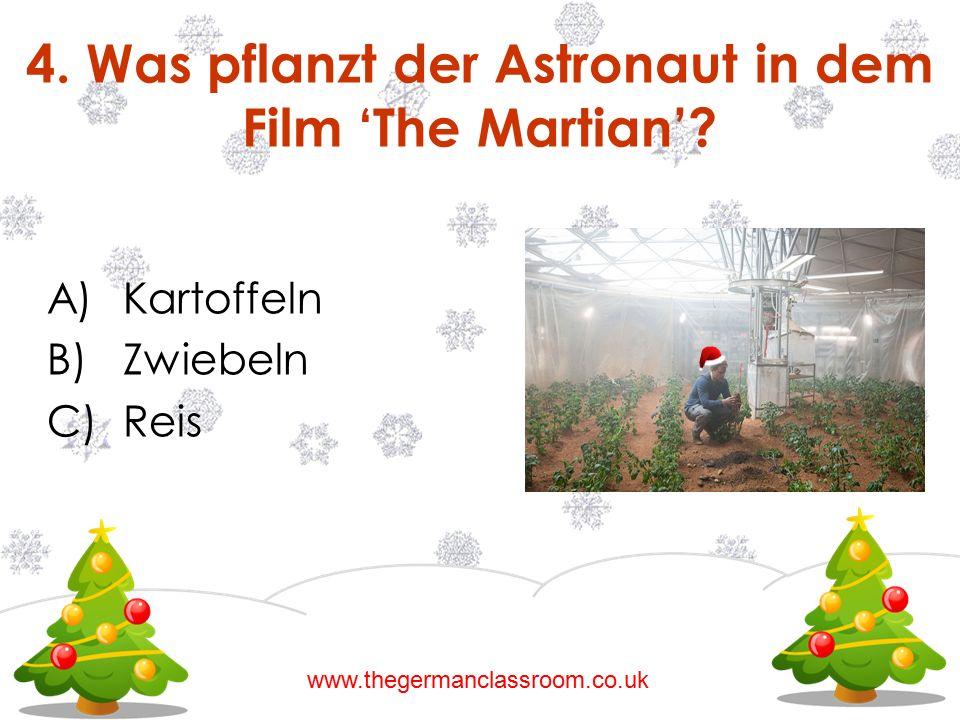 4. Was pflanzt der Astronaut in dem Film 'The Martian'