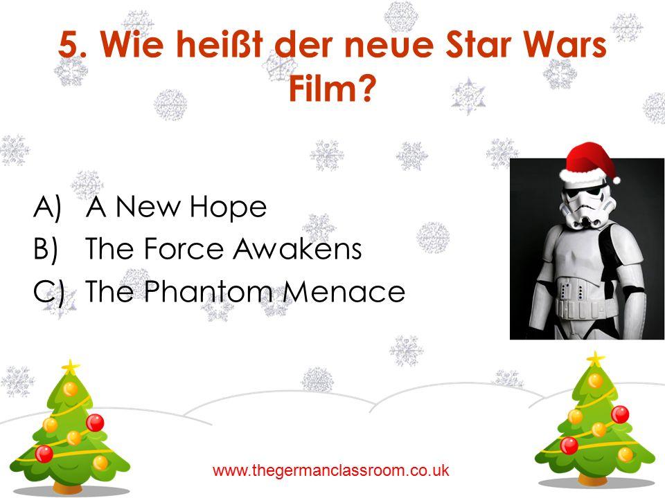 5. Wie heißt der neue Star Wars Film