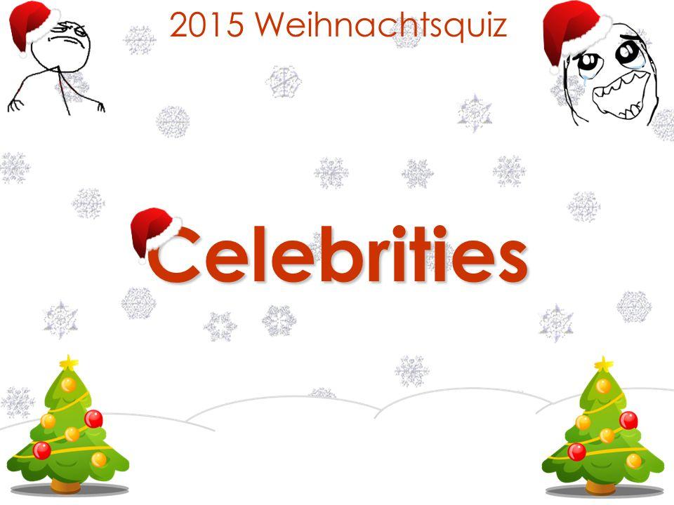 2015 Weihnachtsquiz Celebrities