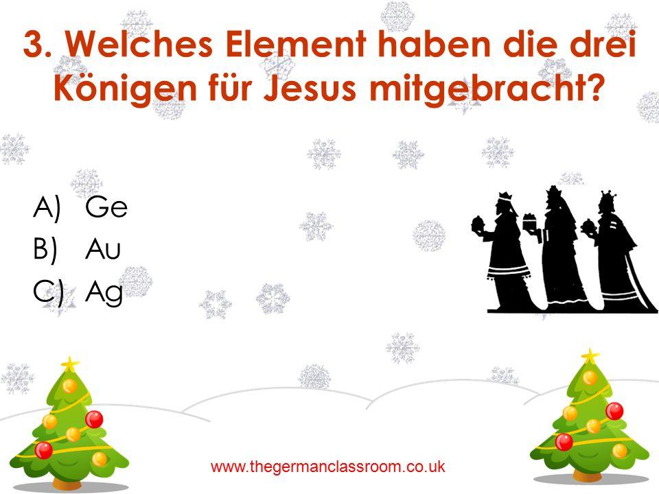 3. Welches Element haben die drei Königen für Jesus mitgebracht