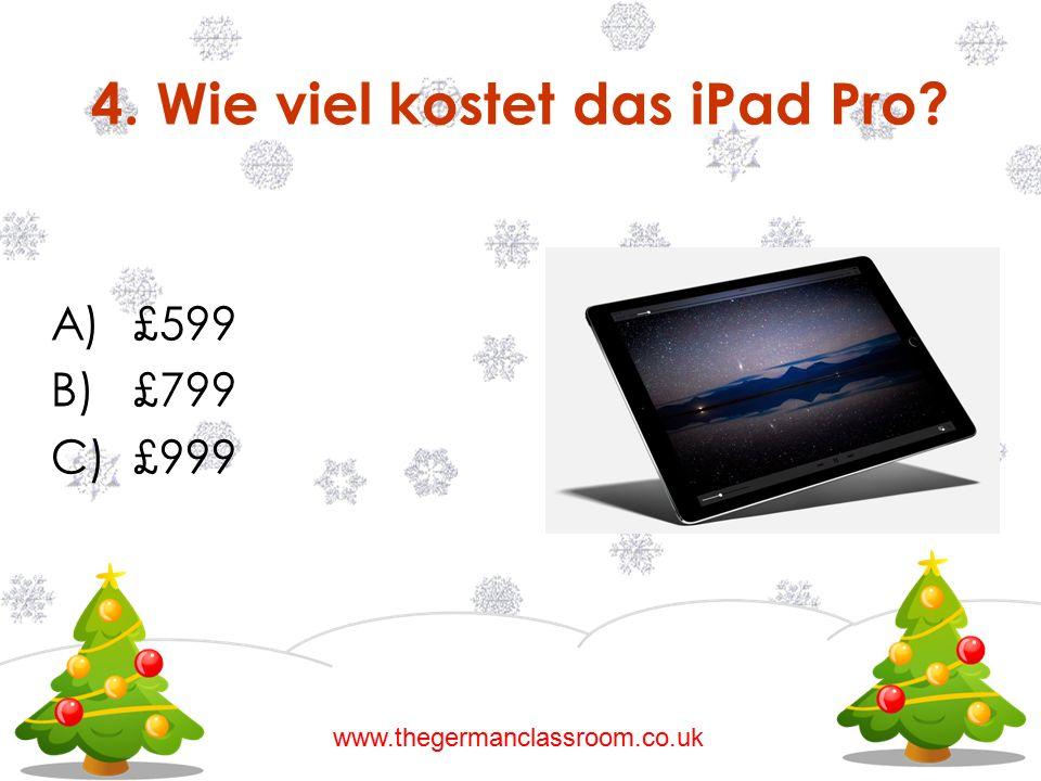 4. Wie viel kostet das iPad Pro