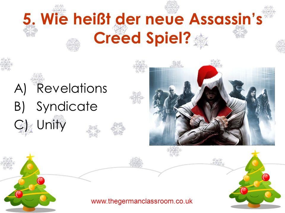 5. Wie heißt der neue Assassin's Creed Spiel