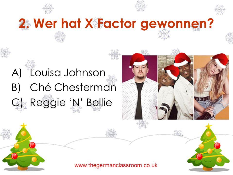 2. Wer hat X Factor gewonnen