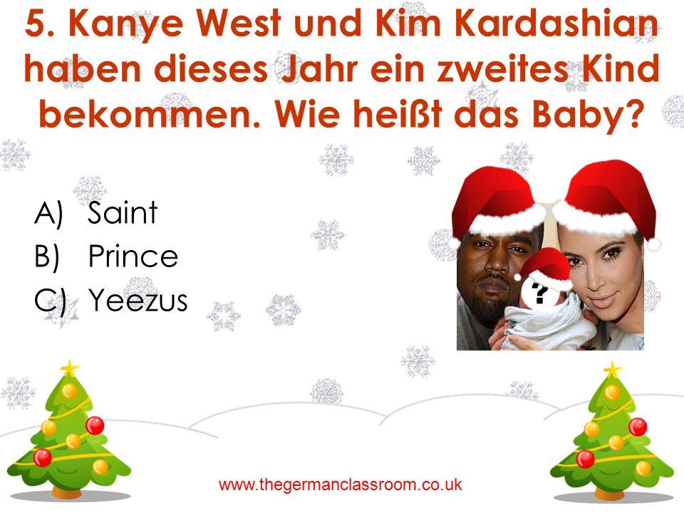 5. Kanye West und Kim Kardashian haben dieses Jahr ein zweites Kind bekommen. Wie heißt das Baby