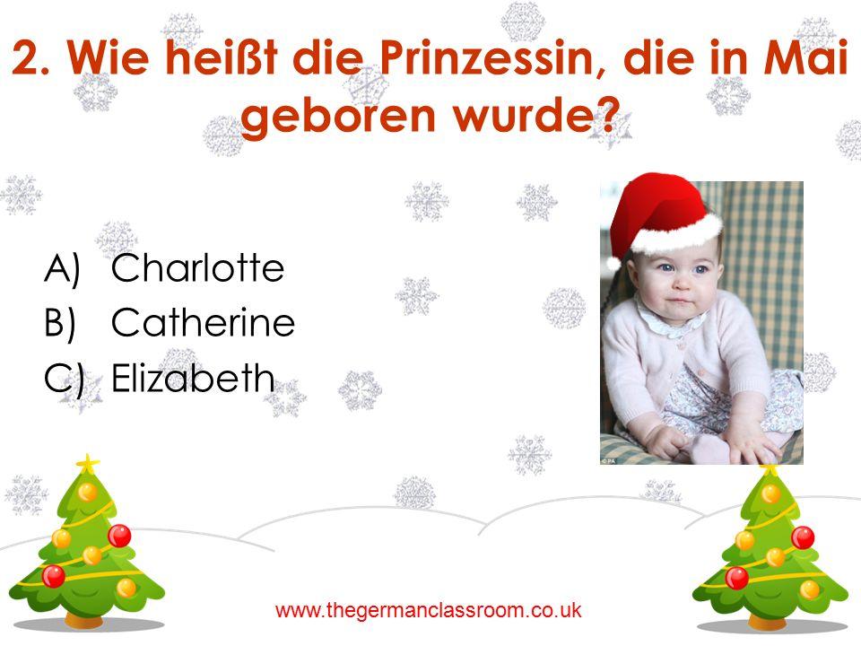 2. Wie heißt die Prinzessin, die in Mai geboren wurde