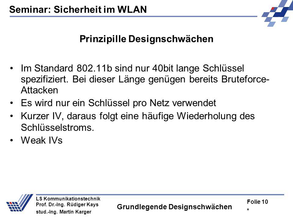 Grundlegende Designschwächen