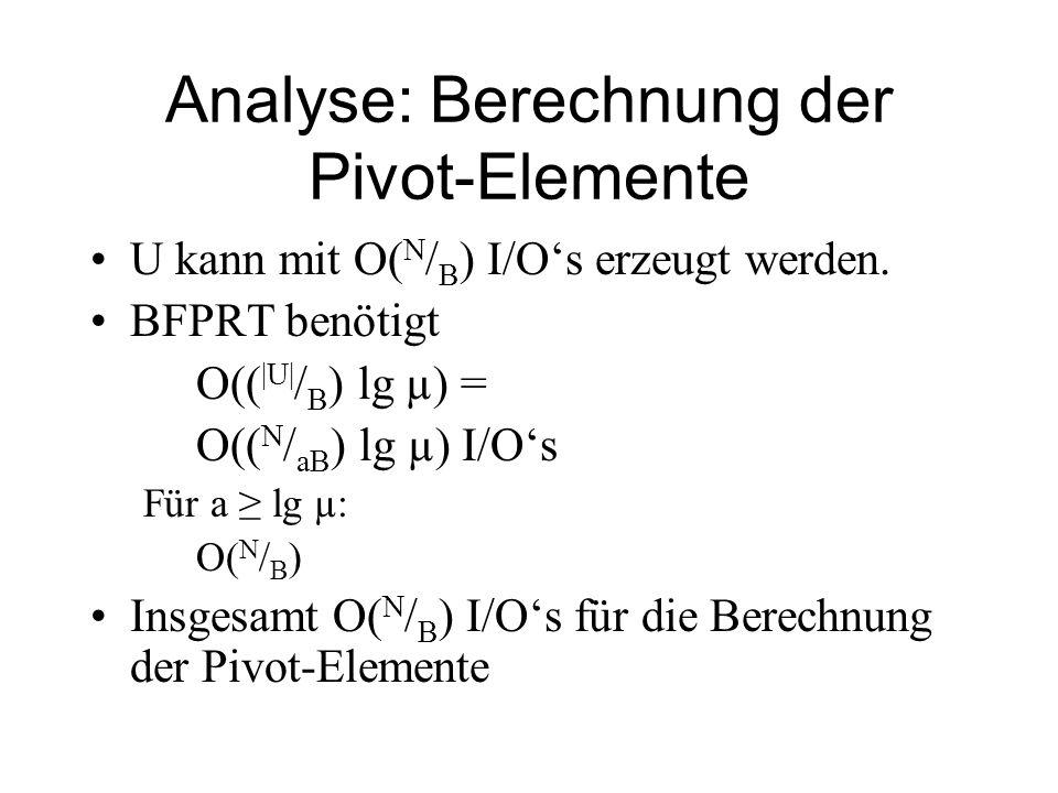 Analyse: Berechnung der Pivot-Elemente