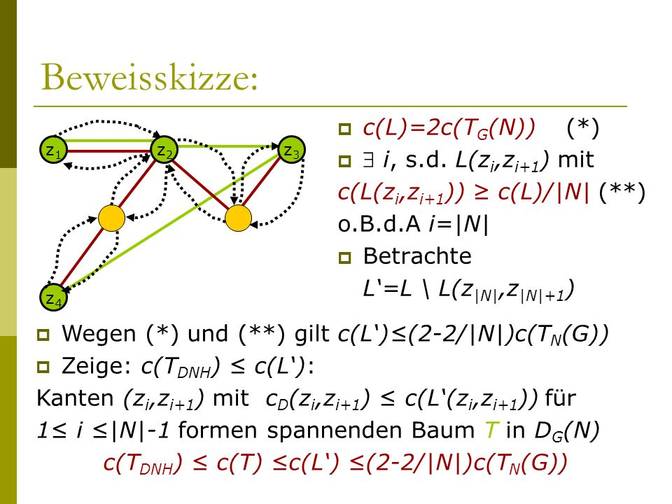 c(TDNH) ≤ c(T) ≤c(L') ≤(2-2/|N|)c(TN(G))