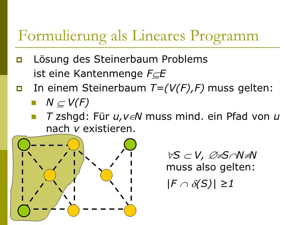 Formulierung als Lineares Programm