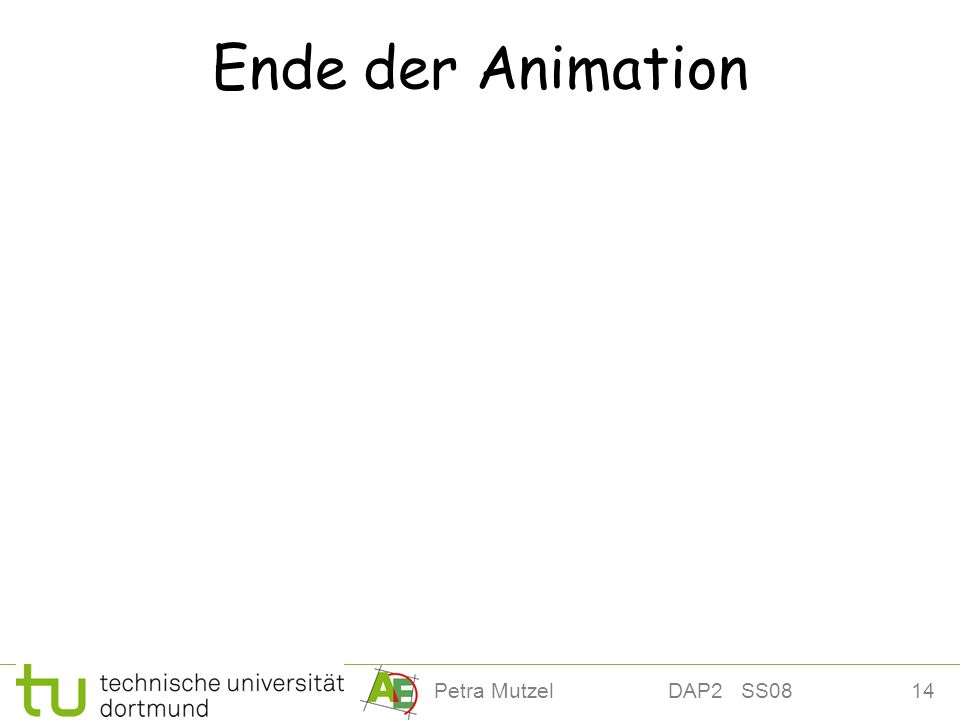 Ende der Animation