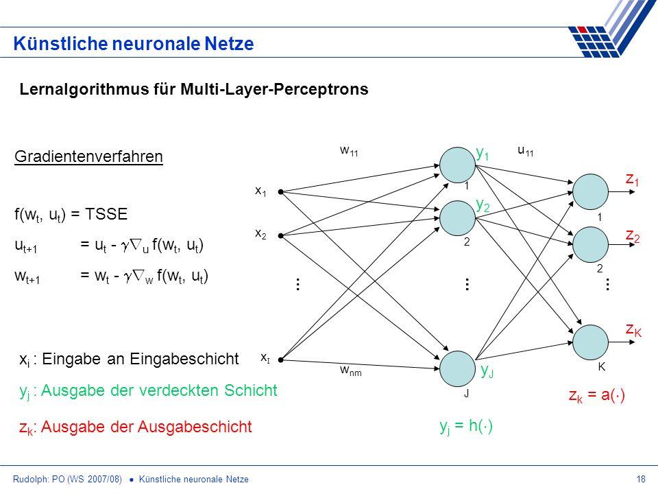 Künstliche neuronale Netze