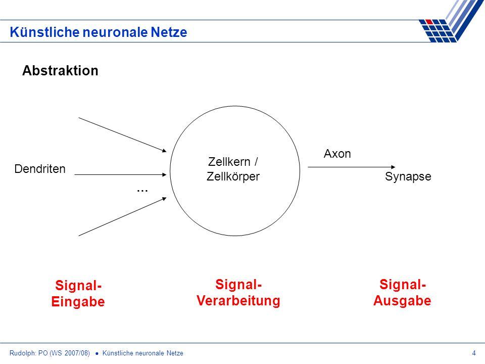Signal- Eingabe Signal- Verarbeitung Signal- Ausgabe