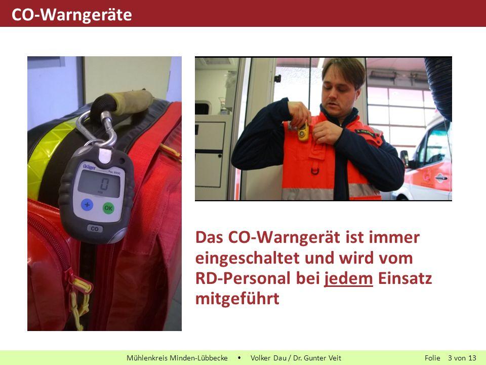 CO-Warngeräte Das CO-Warngerät ist immer eingeschaltet und wird vom RD-Personal bei jedem Einsatz mitgeführt.
