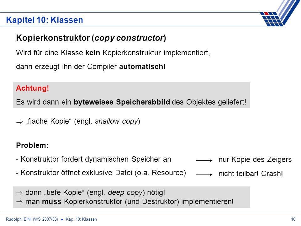 Kopierkonstruktor (copy constructor)