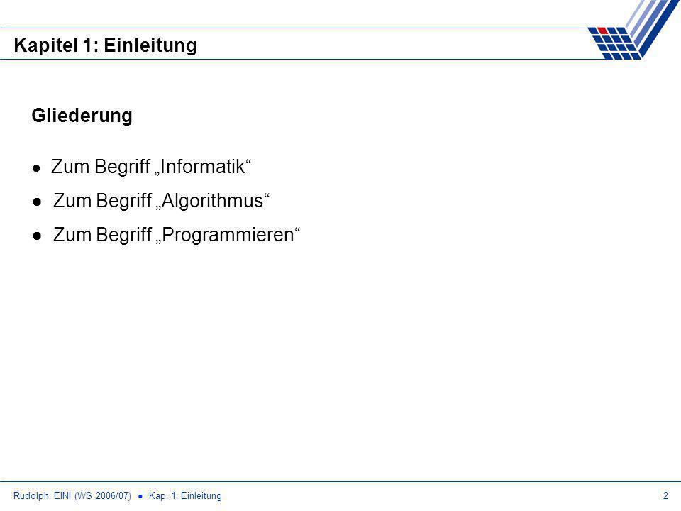 """Zum Begriff """"Algorithmus Zum Begriff """"Programmieren"""