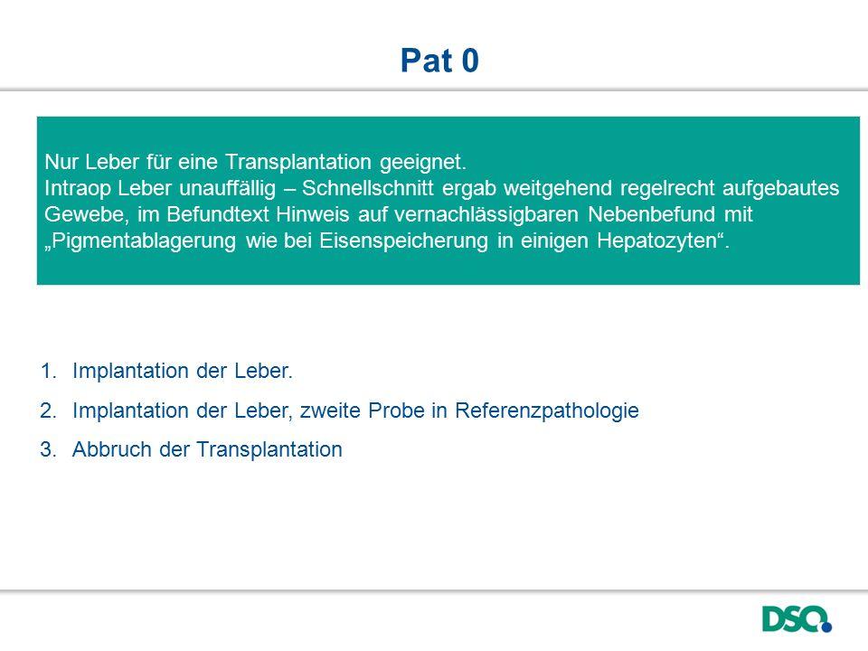Pat 0 Nur Leber für eine Transplantation geeignet.