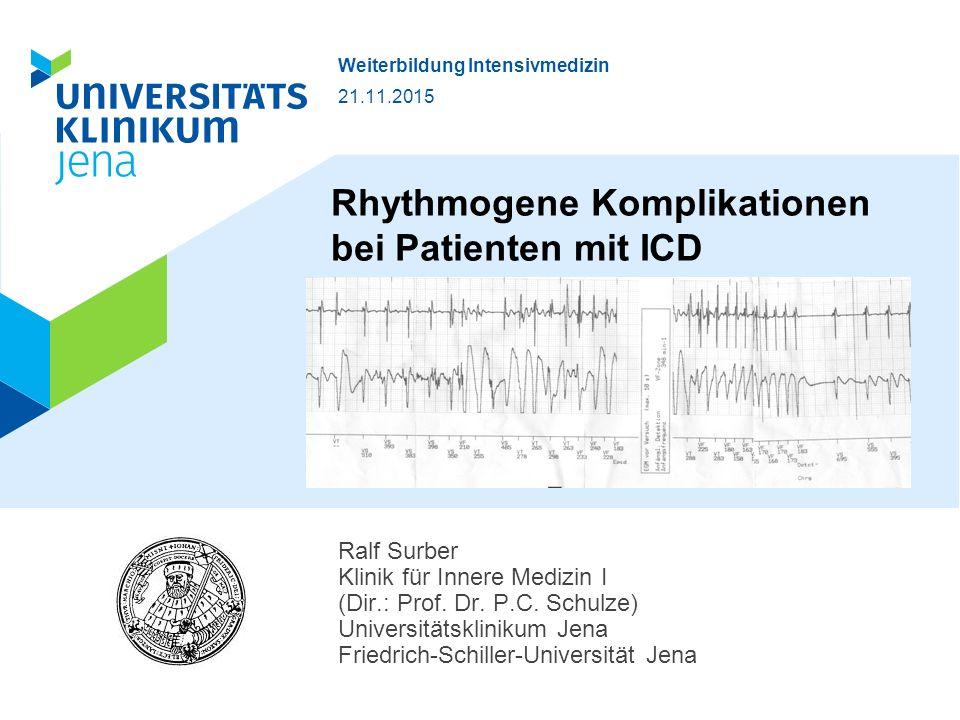 Rhythmogene Komplikationen bei Patienten mit ICD