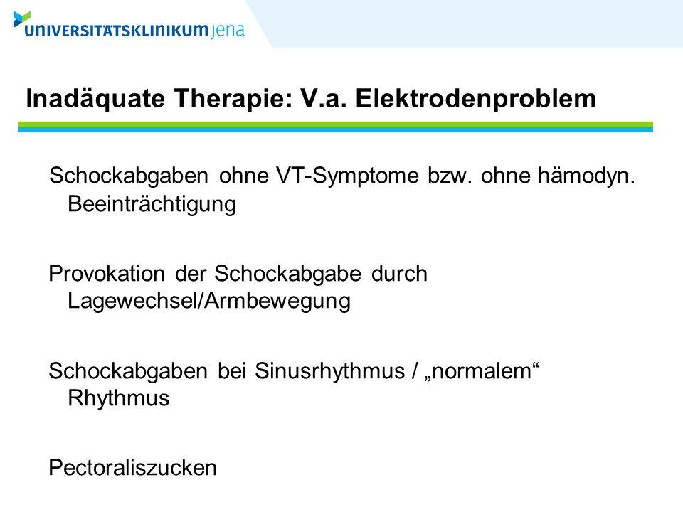 Inadäquate Therapie: V.a. Elektrodenproblem