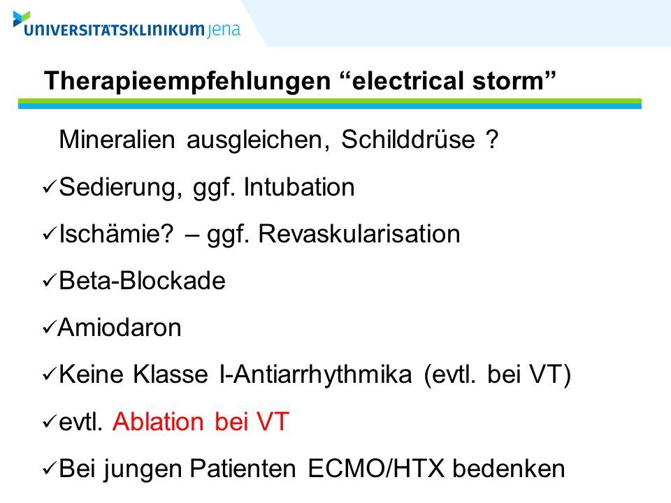 Therapieempfehlungen electrical storm