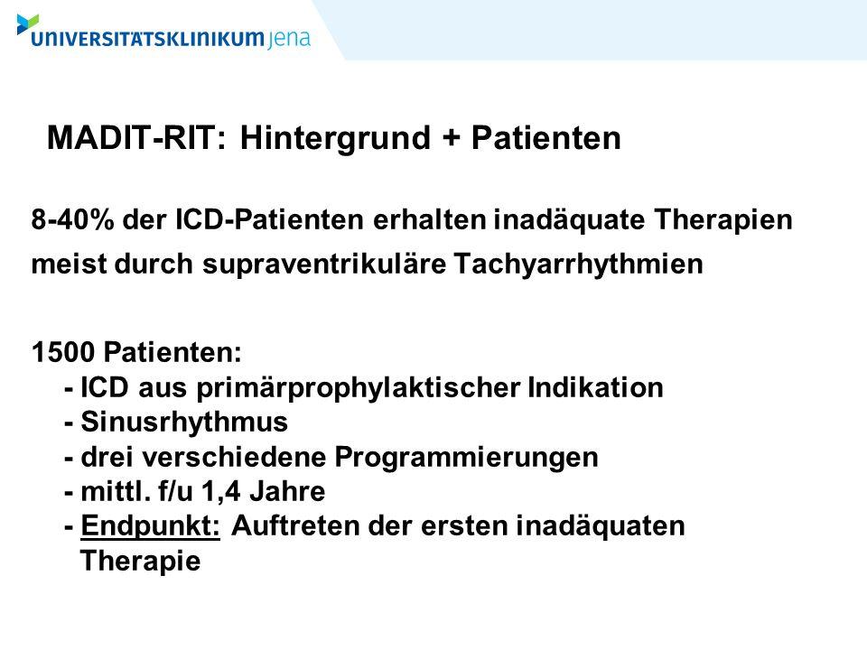 MADIT-RIT: Hintergrund + Patienten
