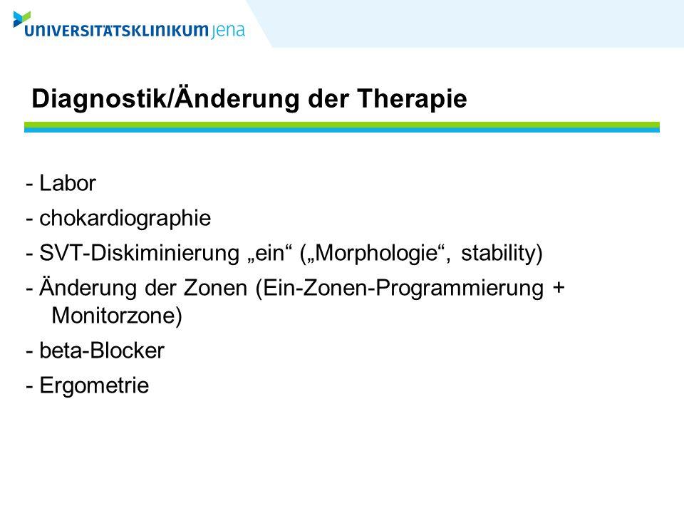 Diagnostik/Änderung der Therapie