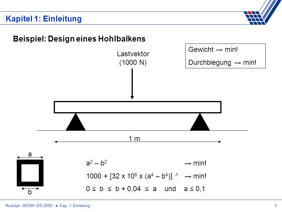 Beispiel: Design eines Hohlbalkens