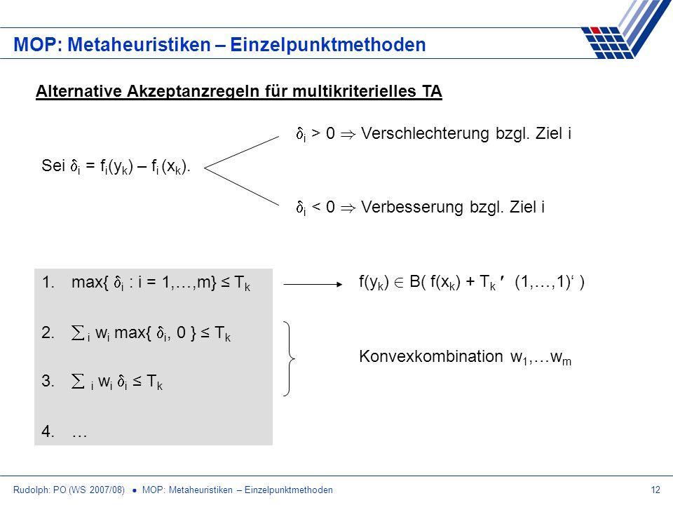 MOP: Metaheuristiken – Einzelpunktmethoden