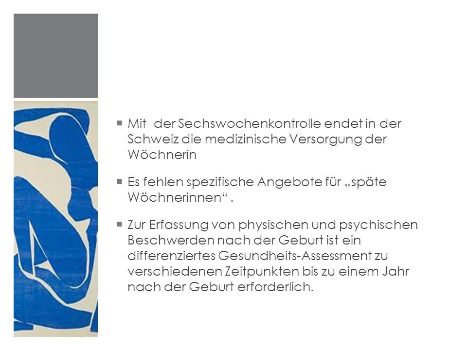 """Es fehlen spezifische Angebote für """"späte Wöchnerinnen ."""