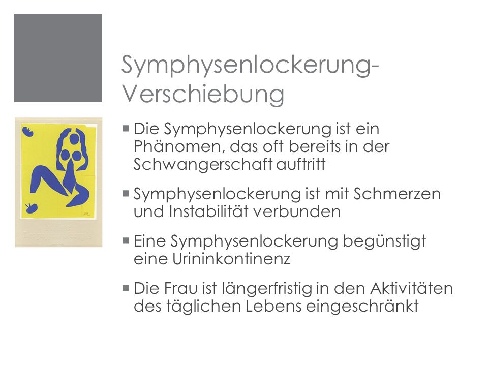 Symphysenlockerung-Verschiebung