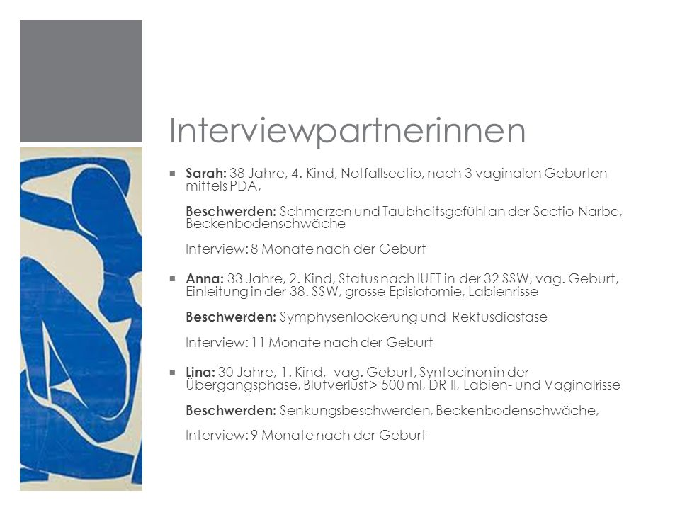Interviewpartnerinnen