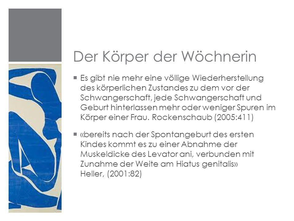 Der Körper der Wöchnerin