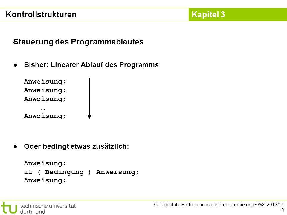 Steuerung des Programmablaufes