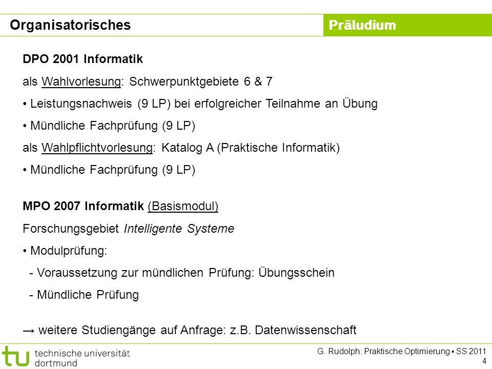 Organisatorisches DPO 2001 Informatik