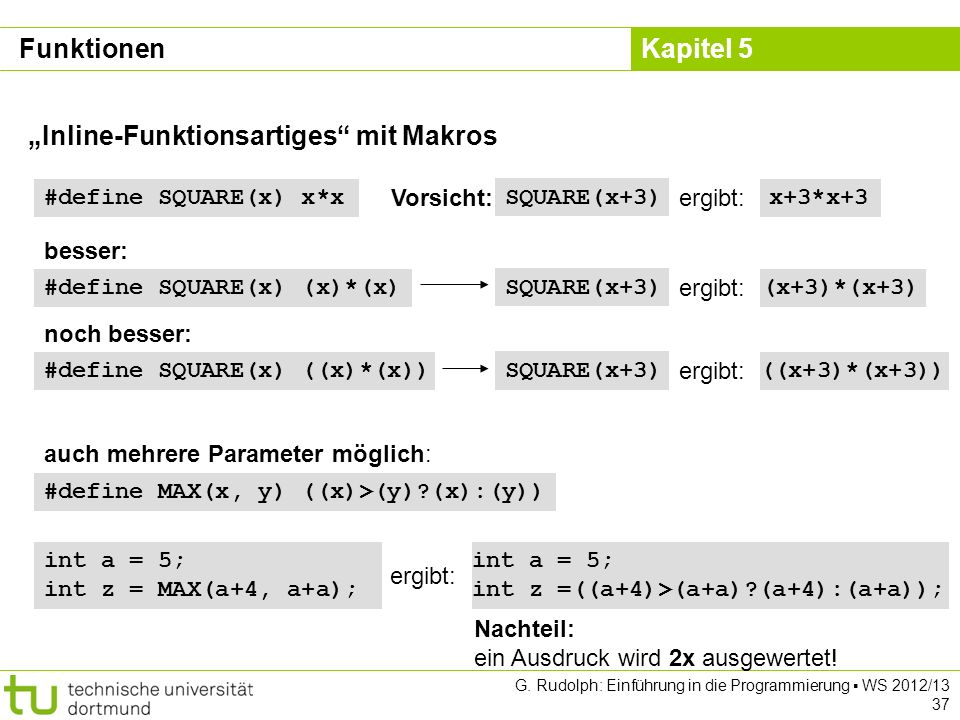"""""""Inline-Funktionsartiges mit Makros"""