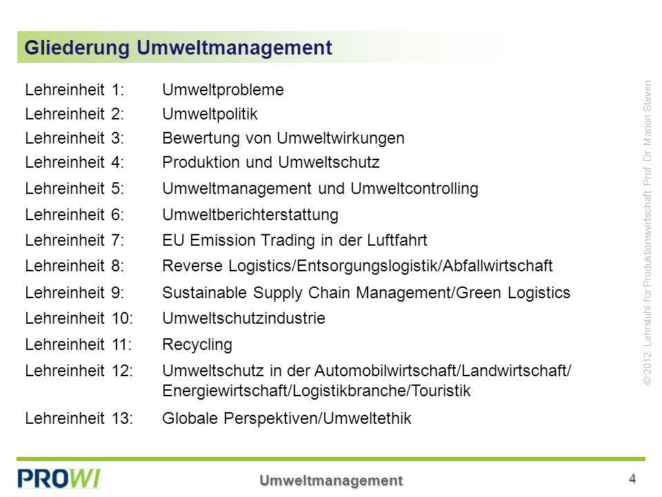 Gliederung Umweltmanagement